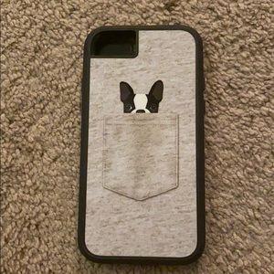 Boston terrier pocket iPhone 8 case
